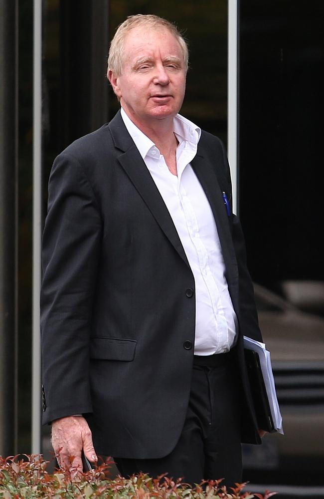 David Moodie leaves the Racing Victoria offices after being appionted as chairman. Pictur