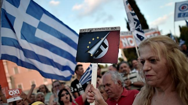 In crisis ... The Greeks have staged protests as the country missed its IMF loan repaymen