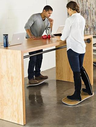 Employees use the surfboard-like Level while at their desk.