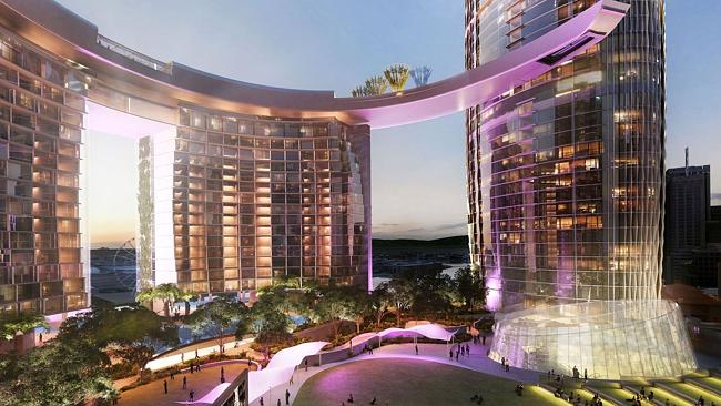 An integrated resort rooftop is part of Echo's plans for Brisbane. Picture: Supplied