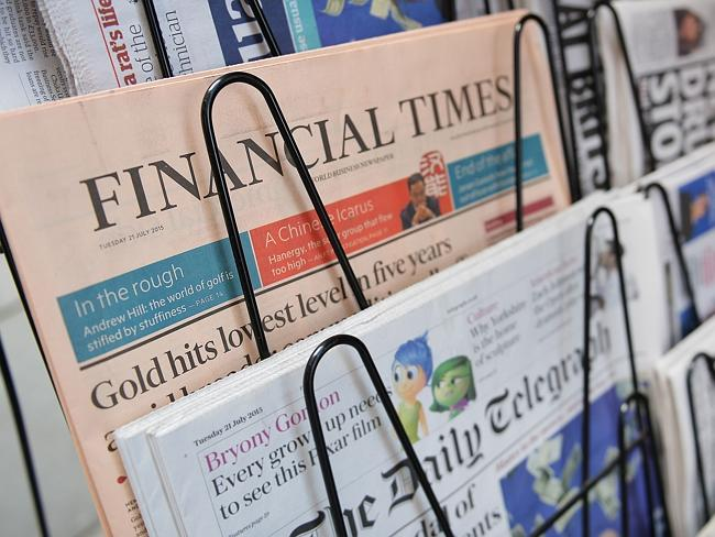 Big seller ... The Financial Times has a combined paid print and digital circulation of 7