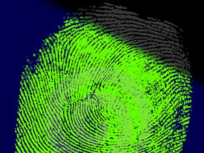 Generic close-up of fingerprints.