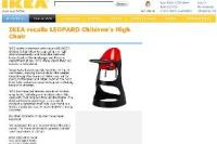 Ikea issues worldwide recall of high chairs after snap