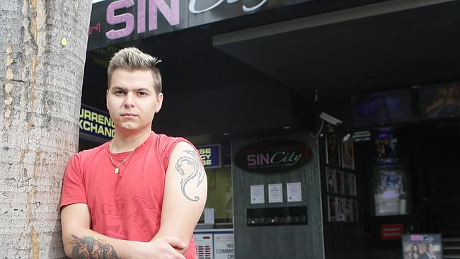Dave Knejfl has been asked a few times to cover up his tattoos in several Surfers Paradise night clubs on Orchid Avenue. Pic ...