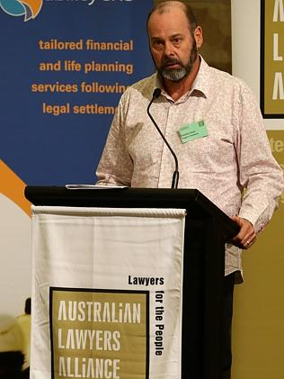 Barrister Stephen Keim at the Australian Lawyers Alliance Conference. Picture: Adam Head
