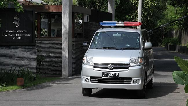 A medical car at Villa Sentosa in Seminyak where Schapelle Corby stayed after release fro