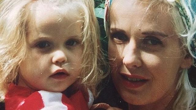 Heartbreaking ... Peaches Geldof's last tweet was this picture of her as a baby in the ar