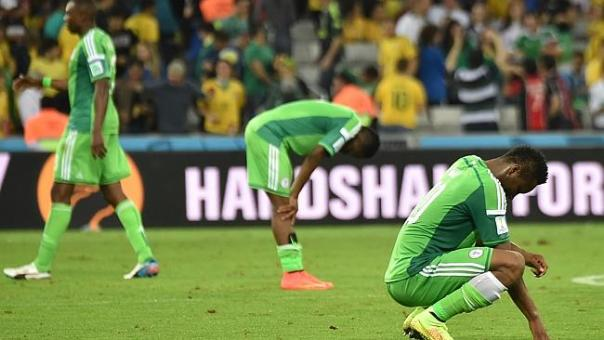 It was a tough day at the office for Nigeria's players.