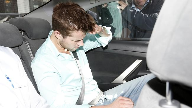 Gable Tostee leaves the Surfers Paradise Police Station after being questioned for hours.