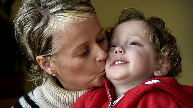 Mother Ali Malone with son Eddie, 4, who has two rare diseases and his mum is raising awa