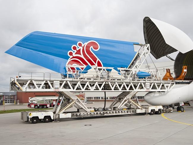 Transporting the tail piece of a China Southern plane. Picture: Airbus.