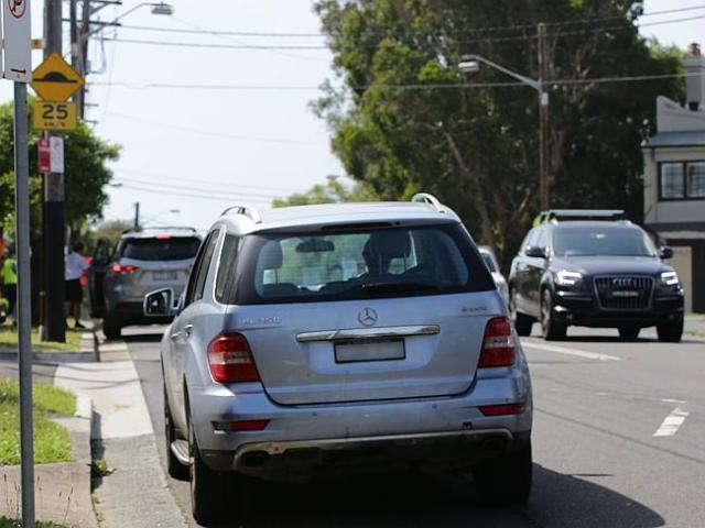 Local residents complain their driveways are often blocked by the illegal parking. Pictur