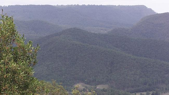 Proposed cableway site in the Gold Coast Hinterland.