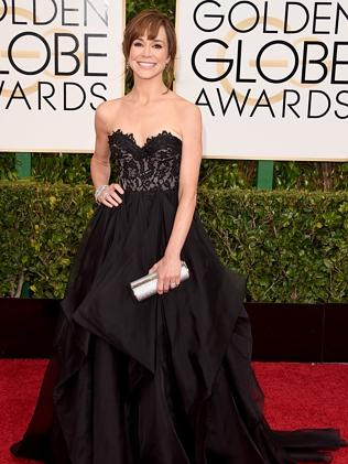 Frances O'Connor attends the 72nd Annual Golden Globe Awards.