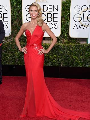 Heidi Klum was among many women who chose red.