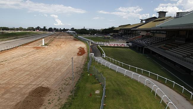 The redevelopment of Eagle Farm appears a long way from entering the home straight Pictur