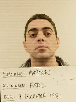 Fadl Maroun, after his arrest. Picture: Australian Federal Police.