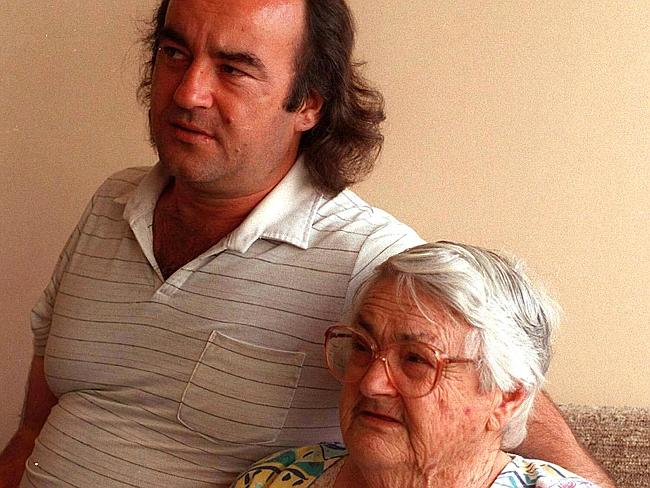 Killer's mother ... Margaret Milat with her son David.
