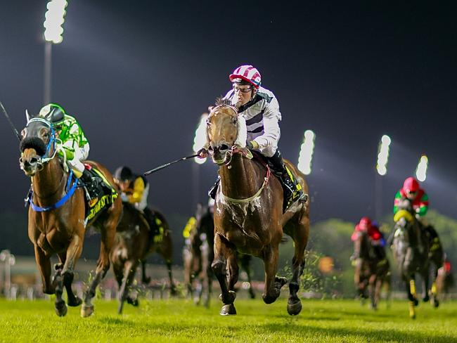 Star factor: Dan Excel and Tommy Berry combine to take out the Group 1 Singapore Cup. Pic