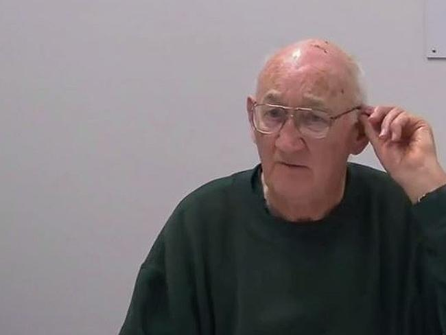 Gerald Ridsdale gives evidence by video link.