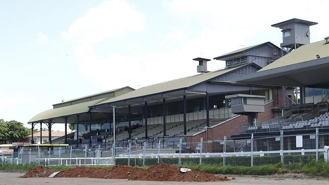 An eerie looking Eagle Farm when the track was originally torn up last year.