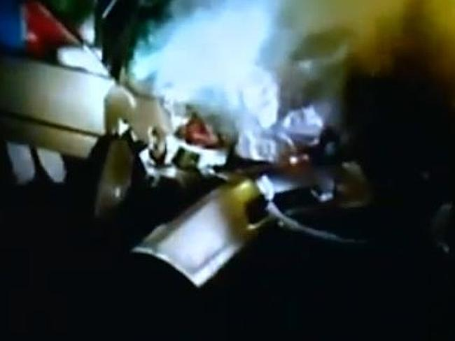 Video nasty ... Pelton's footage of the crash. Picture: Fox8