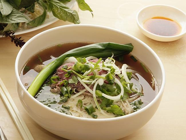 Beef pho from An Restaurant Bankstown. Picture: John Fotiadis