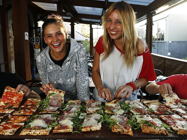 Via Napoli have made a name for themselves by specialising in long pizzas. Picture: Tim H