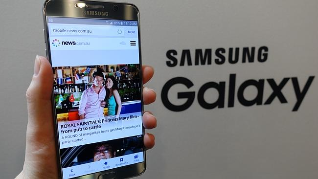 Smaller and better ... The Samsung Galaxy Note 5, launched in New York, shows off News.co