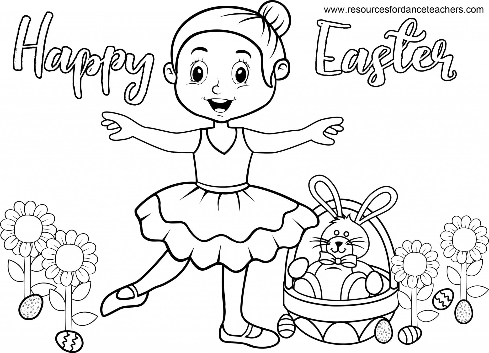 Top 5 Preschool Dance Easter songs and Coloring Sheet