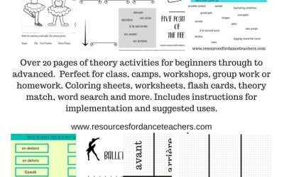Ballet theory activity pack.