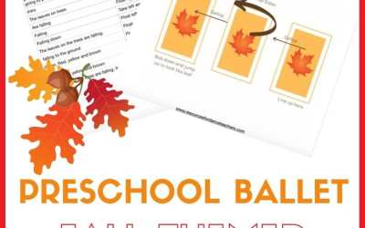Fall themed Preschool ballet class plan