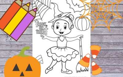 Free Halloween Ballet coloring page
