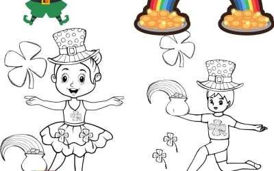 Saint Patrick's Day Preschool Dance coloring page