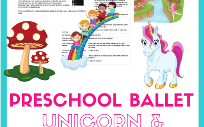 Unicorn Preschool Ballet class plan