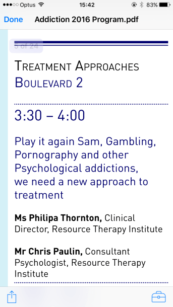 Abstract' Play It Again Sam' presented by the Resource Therapy Institute