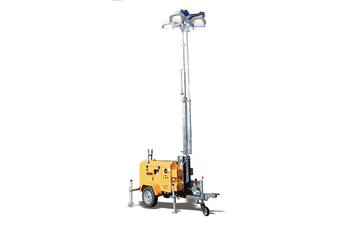 Best Seller 9m High Metal Halide Manual Lighting Tower