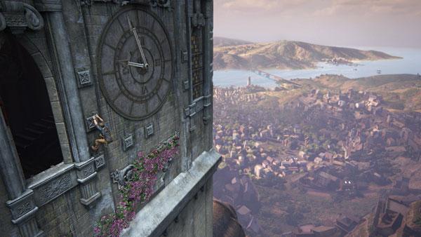 Kellotornin huipulta on rapeat näköalat.