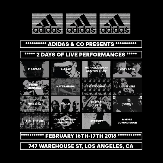 76d8d823dadd adidas Reveals Next Phase of All-Star Musical Guests For 747 Warehouse St.