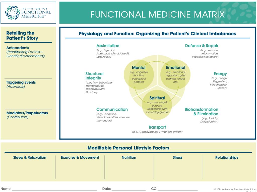 Functional medicine patient intake