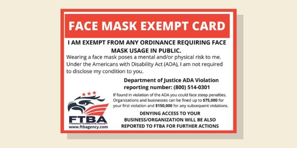 ADA mask exemption