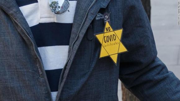 "COVID certificate vs. ""Holocaust"""