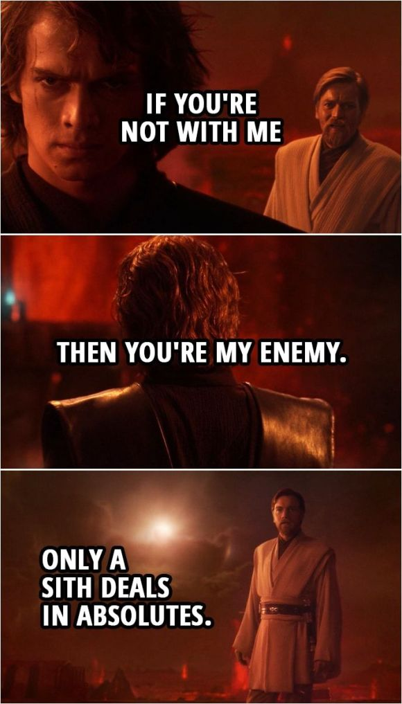 Chivers: Only a Sith deals in absolutes