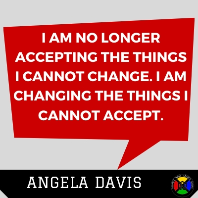 Angela Davis Quote - Accept