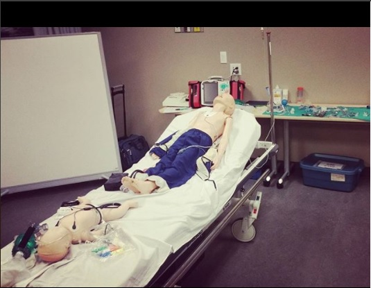 Simulation lab for the PALS certification course.
