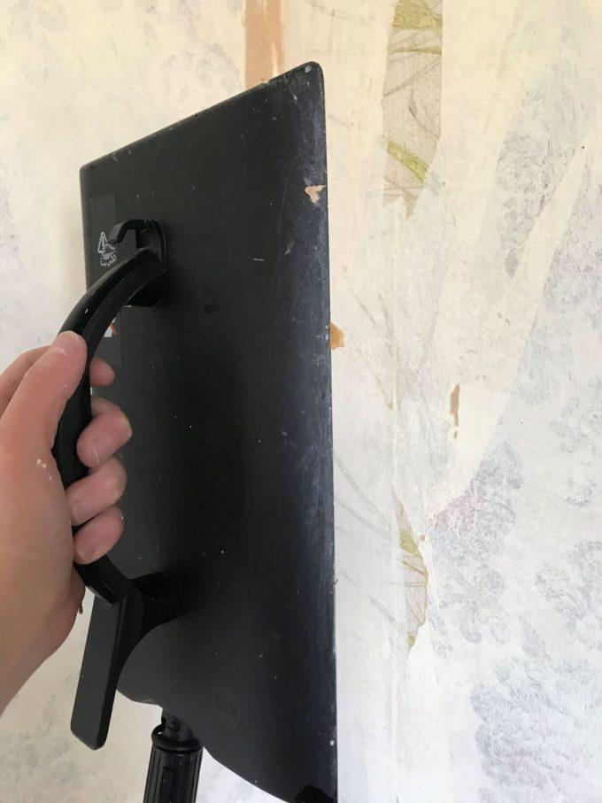 plateau à vapeur d'une décolleuse à papier peint