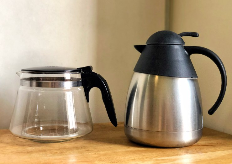 glass carafe and thermal carafe respite coffee