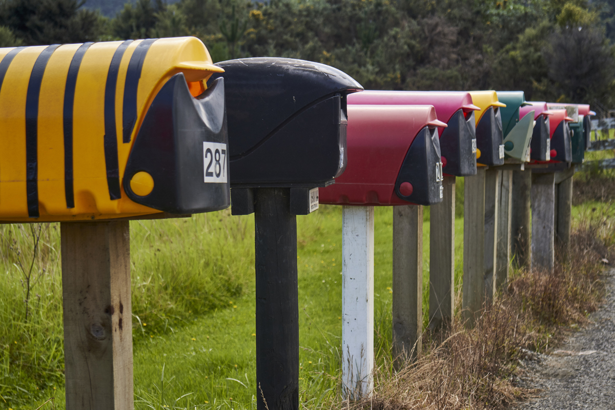 Puhoi Valley letterboxes, Auckland, New Zealand