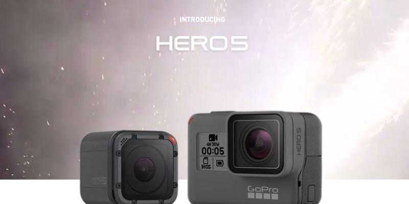 GoPro HERO 5 正式發表!Black 與 Session 支援語音聲控、機身防水