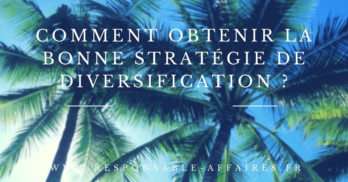 Comment obtenir la bonne stratégie de diversification ?